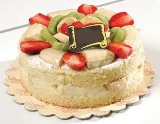pasta siparisi 4 ile 6 kisilik karisik meyvali yas pasta  Uşak çiçek servisi , çiçekçi adresleri