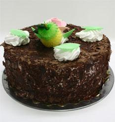 4 ile 6 kisilik yas pasta çikolatali leziz pastane ürünü  Uşak cicekciler , cicek siparisi