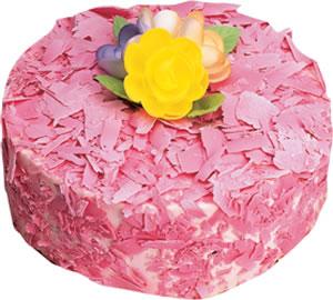 pasta siparisi 4 ile 6 kisilik framboazli yas pasta  Uşak çiçek yolla