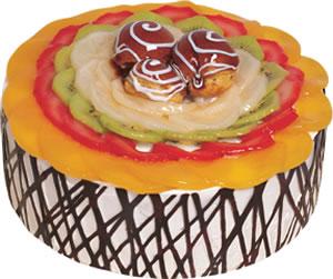 pasta siparisi 4 ile 6 kisilik meyvali yas pasta  Uşak çiçek satışı