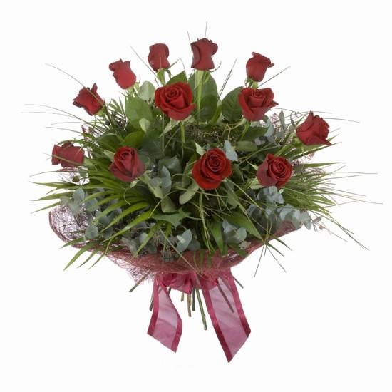Etkileyici buket 11 adet kirmizi gül buketi  Uşak internetten çiçek satışı