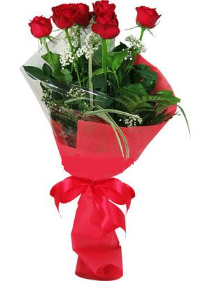 7 adet kirmizi gül buketi  Uşak çiçek yolla , çiçek gönder , çiçekçi