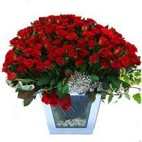 Uşak çiçekçiler   101 adet kirmizi gül aranjmani