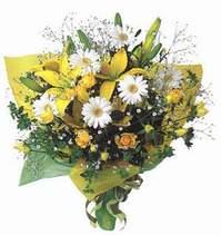 Uşak ucuz çiçek gönder  Lilyum ve mevsim çiçekleri