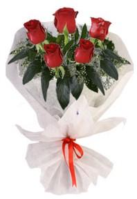 5 adet kirmizi gül buketi  Uşak çiçekçiler