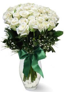 19 adet essiz kalitede beyaz gül  Uşak çiçekçiler