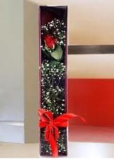 kutu içinde tek kirmizi gül  Uşak çiçek online çiçek siparişi
