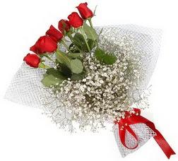 7 adet kirmizimi kirmizi gül buketi  Uşak hediye sevgilime hediye çiçek