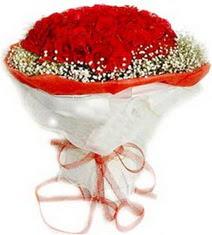 Uşak çiçekçiler  41 adet kirmizi gül buketi