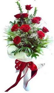 Uşak ucuz çiçek gönder  10 adet kirmizi gül buketi demeti