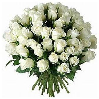 Uşak çiçek servisi , çiçekçi adresleri  33 adet beyaz gül buketi