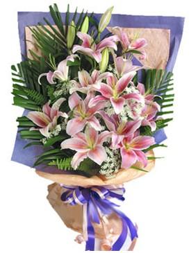 7 dal kazablankadan görsel buket  Uşak kaliteli taze ve ucuz çiçekler