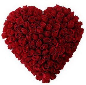 Uşak çiçekçi mağazası  muhteşem kırmızı güllerden kalp çiçeği