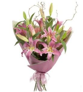 Uşak İnternetten çiçek siparişi  3 dal cazablanca buket çiçeği