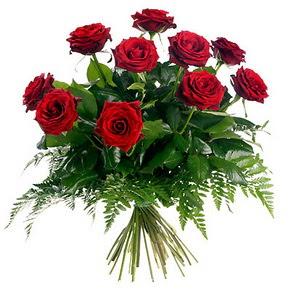 Uşak çiçek gönderme  10 adet kırmızı gülden buket