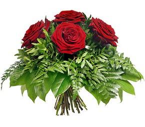 Uşak çiçek mağazası , çiçekçi adresleri  5 adet kırmızı gülden buket