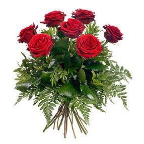 Uşak online çiçek gönderme sipariş  7 adet kırmızı gülden buket