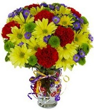 En güzel hediye karışık mevsim çiçeği  Uşak hediye çiçek yolla