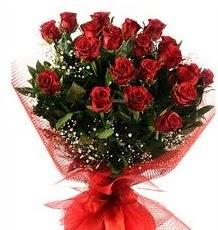 İlginç Hediye 21 Adet kırmızı gül  Uşak internetten çiçek siparişi