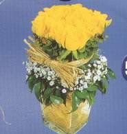Uşak anneler günü çiçek yolla  Cam vazoda 9 Sari gül
