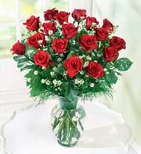 Uşak internetten çiçek satışı  9 adet mika yada vazoda kirmizi güller