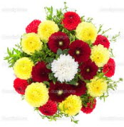 Uşak çiçekçi mağazası  13 adet mevsim çiçeğinden görsel buket