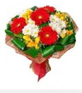 1 demet karışık buket  Uşak hediye sevgilime hediye çiçek