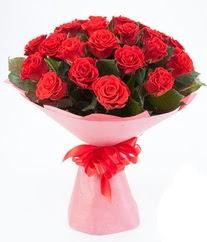 15 adet kırmızı gülden buket tanzimi  Uşak çiçek siparişi sitesi