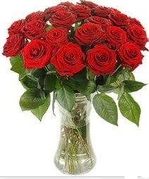 Uşak çiçek mağazası , çiçekçi adresleri  Vazoda 15 adet kırmızı gül tanzimi