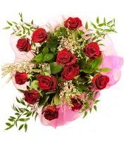 12 adet kırmızı gül buketi  Uşak 14 şubat sevgililer günü çiçek