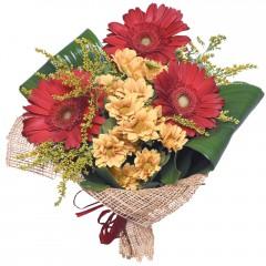 karışık mevsim buketi  Uşak çiçekçi mağazası