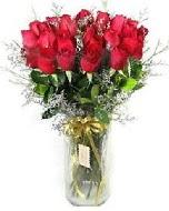 27 adet vazo içerisinde kırmızı gül  Uşak İnternetten çiçek siparişi