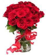 21 adet vazo içerisinde kırmızı gül  Uşak çiçek satışı
