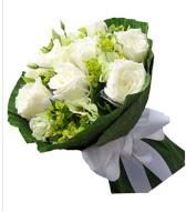 9 adet beyaz gül buketi  Uşak çiçek siparişi sitesi