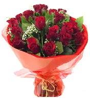 12 adet görsel bir buket tanzimi  Uşak çiçek siparişi vermek