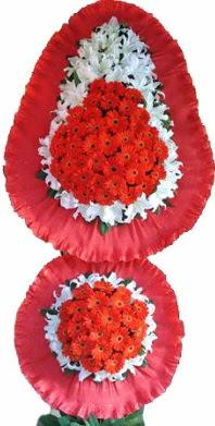 Uşak online çiçek gönderme sipariş  Çift katlı kaliteli düğün açılış sepeti
