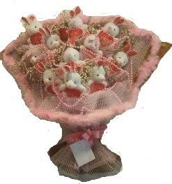 12 adet tavşan buketi  Uşak çiçek mağazası , çiçekçi adresleri