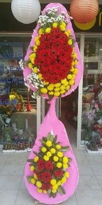Çift katlı düğün nikah açılış çiçek modeli  Uşak çiçekçiler