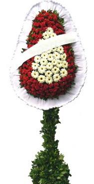 Çift katlı düğün nikah açılış çiçek modeli  Uşak İnternetten çiçek siparişi