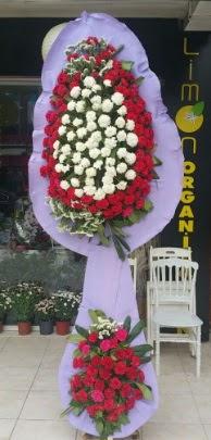 Çift katlı işyeri açılış çiçek modeli  Uşak ucuz çiçek gönder
