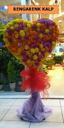 Ankara mevsim çiçeklerinden kalp perförje  Uşak çiçekçi telefonları