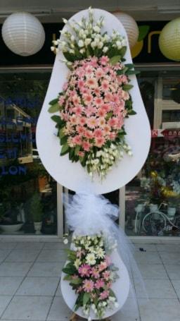 Çift katlı özel şahane sepet çiçeği  Uşak çiçekçi telefonları