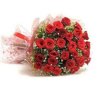 27 Adet kırmızı gül buketi  Uşak ucuz çiçek gönder