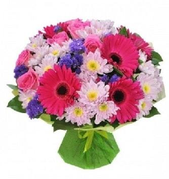 Karışık mevsim buketi mevsimsel buket  Uşak çiçek satışı