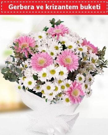 Papatya ve Gerbera Buketi  Uşak çiçek , çiçekçi , çiçekçilik